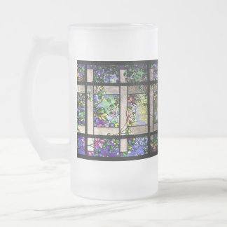 Taza del vitral de Tiffany del jardín