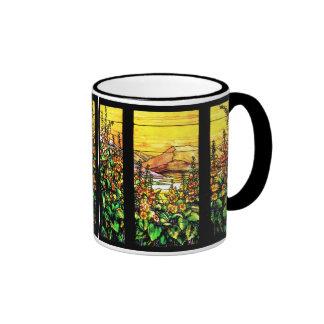 Taza del vitral del jardín del Foxglove