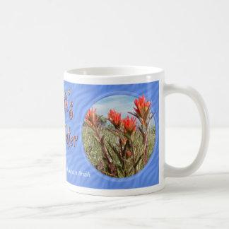 Taza del Wildflower de la brocha india del Día de