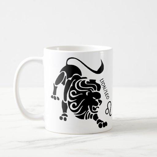 Taza del zodiaco de Leo