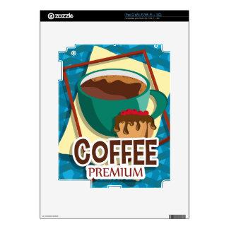 Taza deliciosa del ejemplo de café con un mollete iPad 2 skins