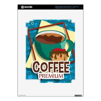 Taza deliciosa del ejemplo de café con un mollete pegatina skin para iPad 3