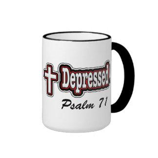 Taza deprimida del regalo