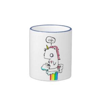 Taza deprimida del unicornio por EMI Boz