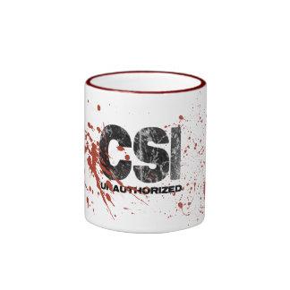 Taza desautorizada de CSI del salpicón de la sangr