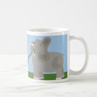 Taza descarada del elefante