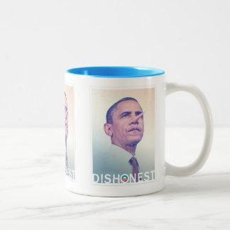 Taza deshonesta de Barack Hussein Obama Pinocchio
