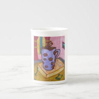 Taza dibujada mano del arte del café taza de china