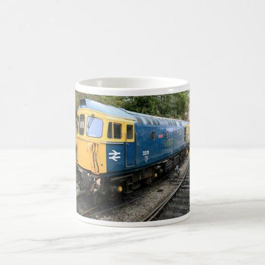 Taza diesel del tren de la clase 33 de British