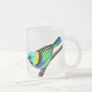 Taza dirigida verde tropical del pájaro del Tanage