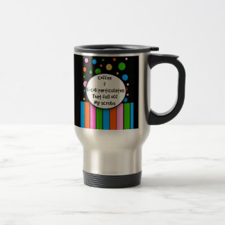 Taza divertida café y E-Coli del viaje de la en
