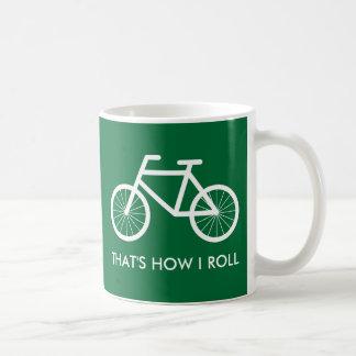 Taza divertida de la bicicleta para los