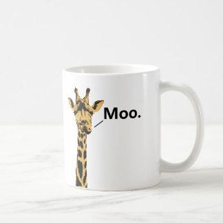 Taza divertida de la vaca de la jirafa