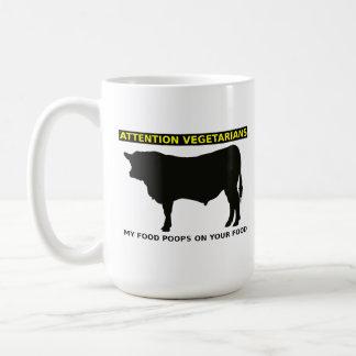 Taza divertida de los amantes de la carne de los v