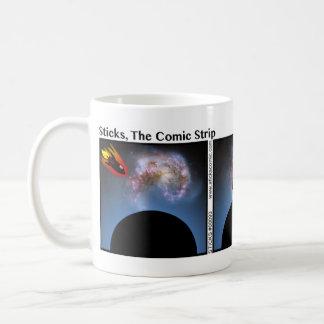 Taza divertida de Stickman de la nave espacial - 0