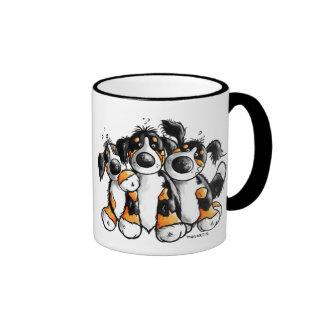 Taza divertida de tres de Bernese perros de