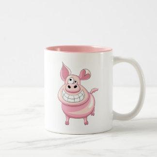 Taza divertida del cerdo
