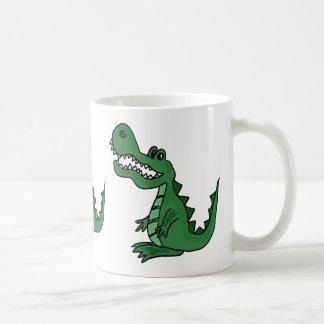 Taza divertida del cocodrilo AP