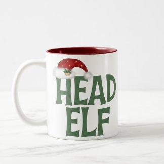 Taza divertida del duende del navidad