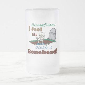 Taza divertida del esqueleto del Bonehead