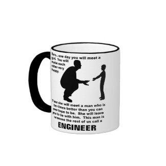 Taza divertida del ingeniero paternal del consejo