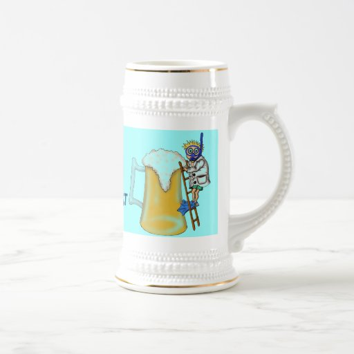 Taza divertida del salto de la cerveza