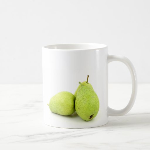 Taza divertida fresca de la foto de la manzana de