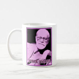 Taza divertida rosada de Freud