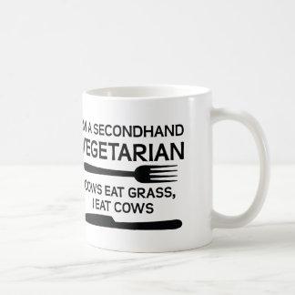 Taza divertida vegetariana de segunda mano