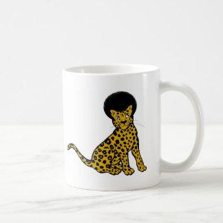 taza doble afro del leopardo