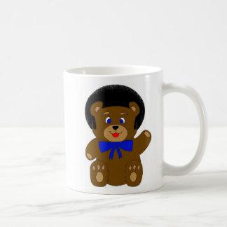 taza doble afro del oso de peluche