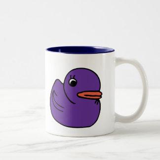 Taza Ducky púrpura de dos tonos