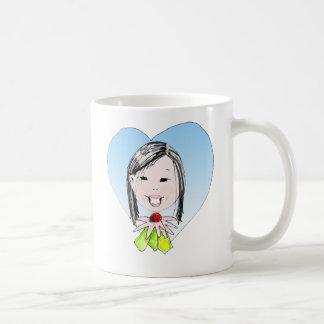 Taza dulce del chica del E. China