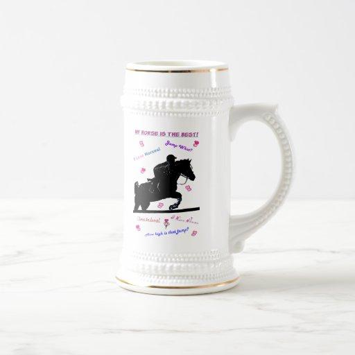 Taza ecuestre de Stein de la cerveza del caballo