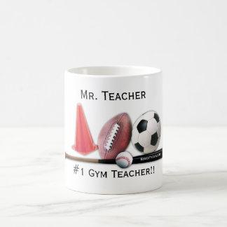 Taza Editable del profesor de gimnasio #1