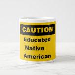 Taza educada del jumbo del nativo americano de la  tazas extra grande
