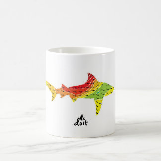 Taza él hincha el tiburón (el doit)