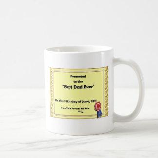 Taza - el mejor certificado del papá nunca