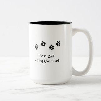 Taza, el mejor papá que un perro tenía nunca taza de café de dos colores