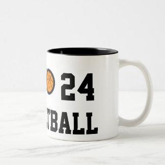 Taza el | Personalizable del baloncesto del número