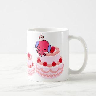 Taza - elefante de la torta - tortas