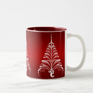 Taza elegante del árbol de navidad