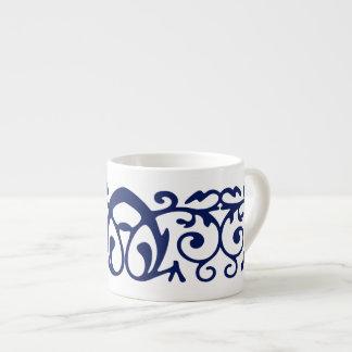 Taza elegante del café express de los azules taza espresso