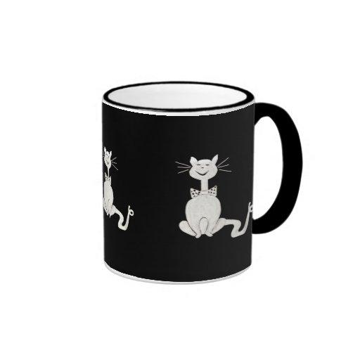 Taza elegante del gato