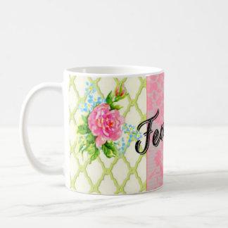 Taza en colores pastel bonita audaz