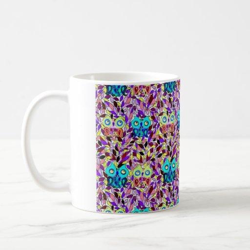 taza en colores pastel del búho