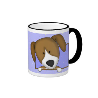 Taza enmarcada del beagle del dibujo animado