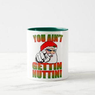 Taza enojada de Santa
