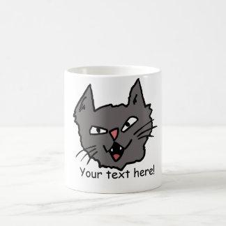 Taza enojada del gato