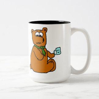 Taza enojada del oso